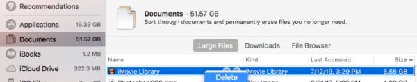 storage information