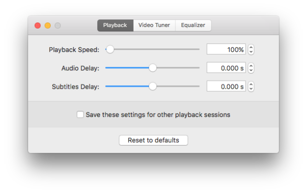 adjust playback