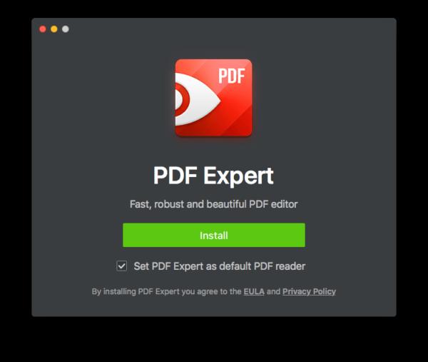 pdfexpert default