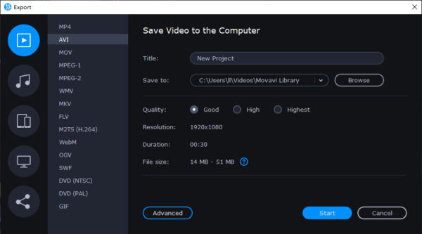 add music to video movavi03