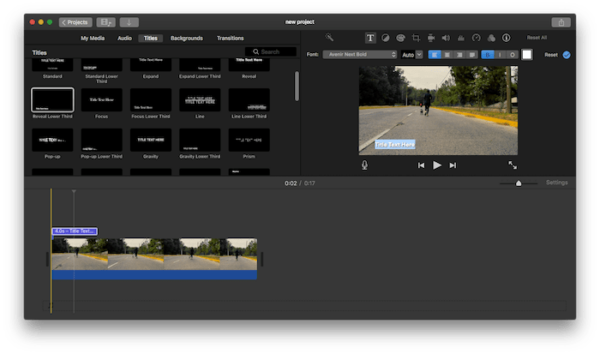 add text to video imovie02
