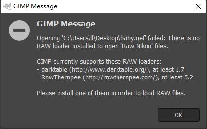 gimp raw image converter