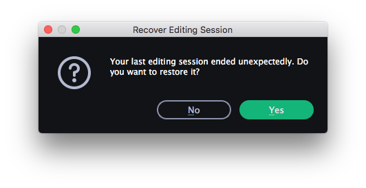 restore editing sessions