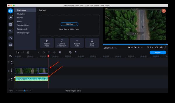 add video clips to movavi