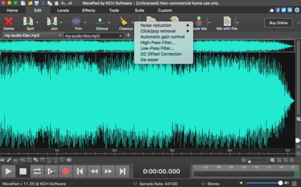 wavepad edit