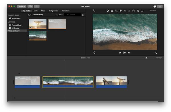 combine video imovie 1-21