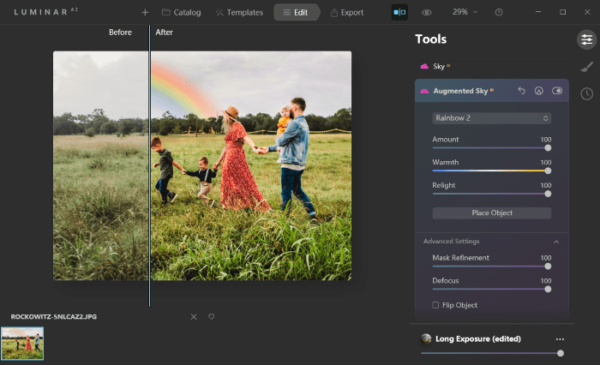 add rainbow to photo 5