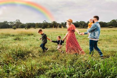 add rainbow to photo image