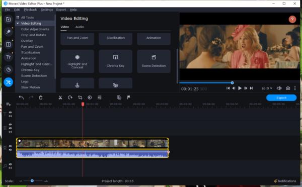 blur face in video movavi 1
