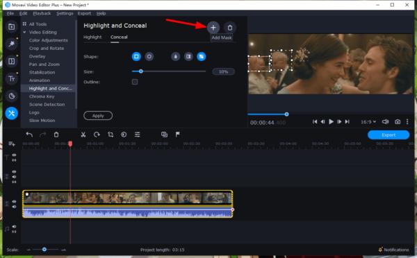blur face in video movavi 5