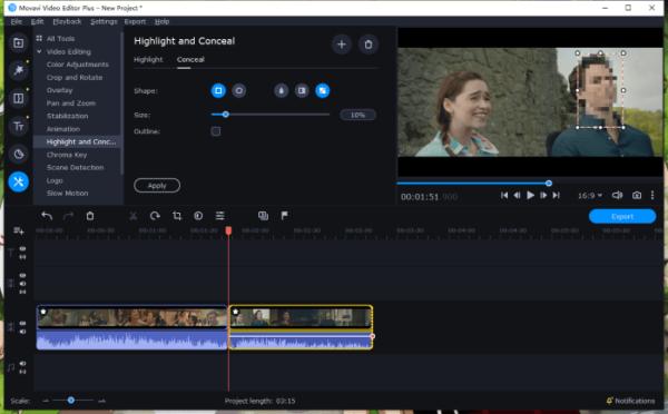 blur face in video movavi 8