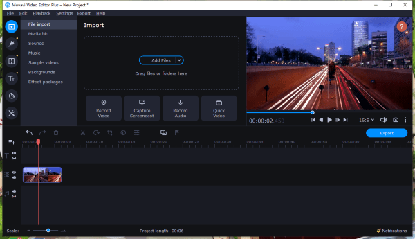 speed up video movavi 1