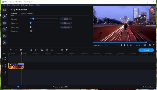 speed up video movavi 2