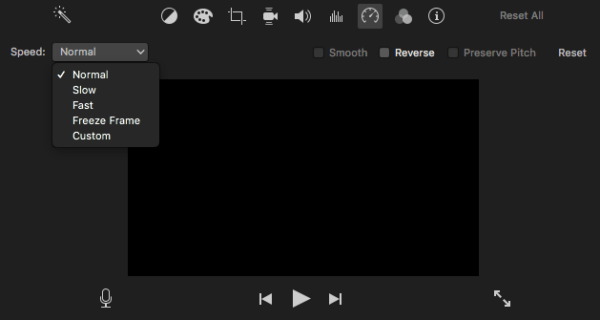 speed up video imovie 1