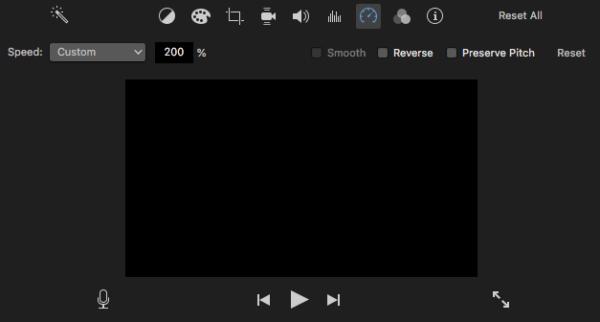 speed up video imovie 3