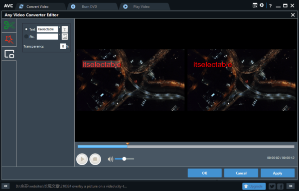 add watermark to video free 2