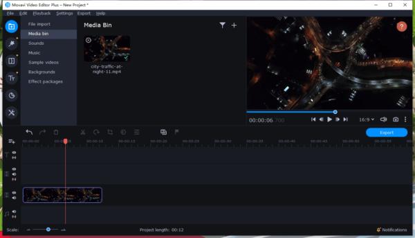 add watermark to video movavi 1