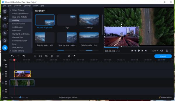 overlay video on video movavi 3