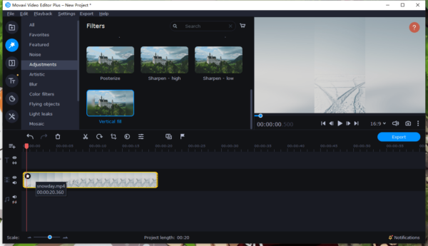 remove black bars from video movavi 3