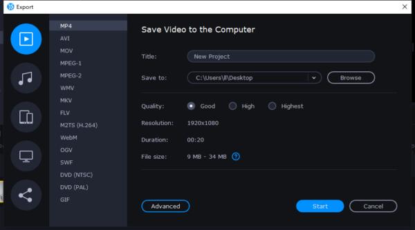 remove black bars from video movavi 4