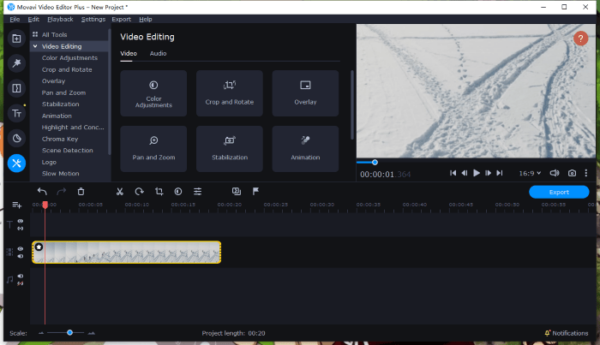 remove black bars from video movavi 6