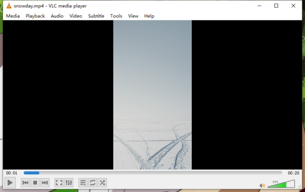 remove black bars from video vlc 1