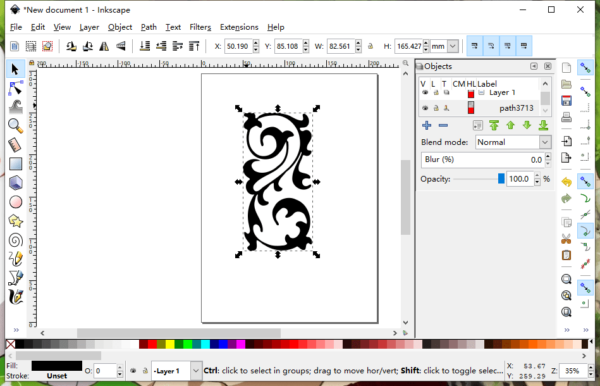 svg to pdf inkscape 1