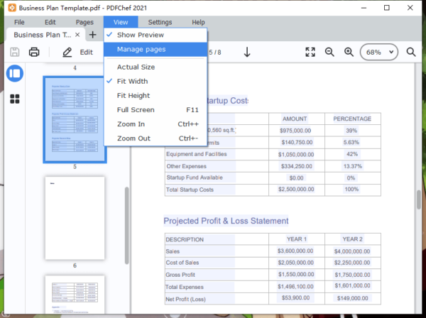 add blank page to pdf movavi 2