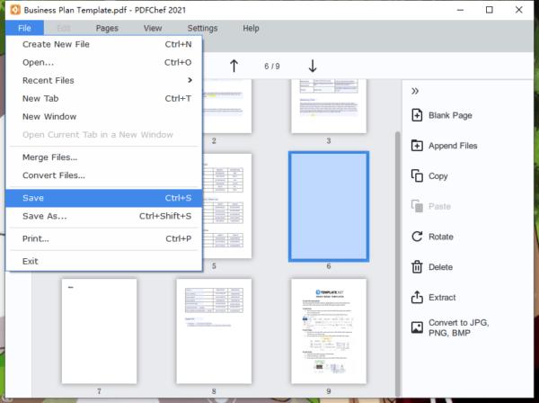 add blank page to pdf movavi 4