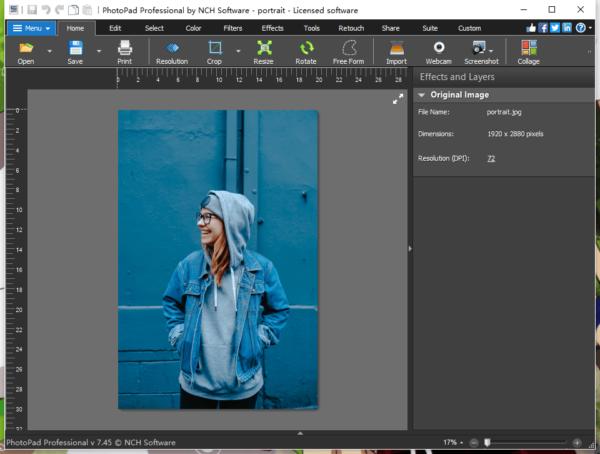 change background photopad 1