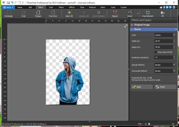 change background photopad 3