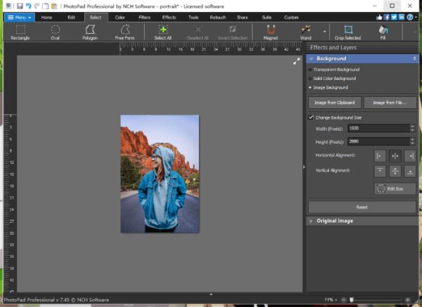 change background photopad 5