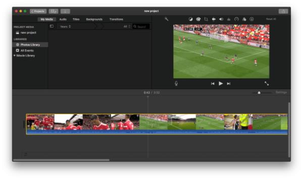 sync audio video imovie 1