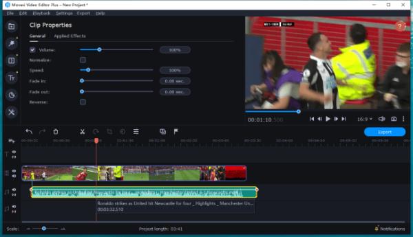 sync audio video movavi 3